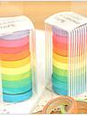 färgrik regnbågedesign tejp (10 st)