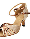 Femei frumoase spumante Pantofi Glitter glezna curea sandale de dans latin