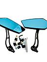 KOSO NIZ4 Motorcykel REMOULD Delar Aluminium Material Blue Glass backspegeln (par)