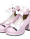 Bowknot Och Frans Design Classic Lolita PU Läder 6.5cm högklackade skor