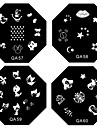1PCS Nail Art Stamp Stamping Image Template Plate QA Series NO.5-60(Assorted Pattern)
