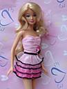 Princesse Robes Pour Poupee Barbie Rose / Fuchsia Robes Pour Fille de Doll Toy