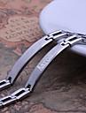 Personlig gåva-Silver-Rostfritt stål-Armband- tillHerr