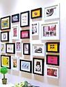 Svart Färg fotoram Insamling Set med 22