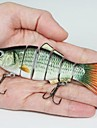 Hot Sale 17g 10.2cm Hard Plastic Baits 6 Segments Minnow Fishing Lures(2pcs)