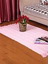 Elaine coton gaufre rose pur cheque tapis 333631