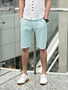 Manieră simplă GBS Shorts pentru bărbați solid de culoare (lumină albastră)