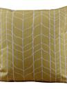 Coton/Lin Housse de coussin , Geometrique Rustique