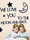 Mots Doudouwo ® et cite le clair de lune Stickers muraux