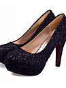 Stiletto talon plate-forme de lacet Chaussures Sunfarey femmes