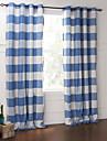 land två paneler blommig botaniska blå sovrum bomull panelgardiner draperier