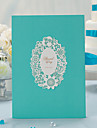 Elegant Floral Laser Cut Guest Book (5 Pages) Sign In Book