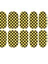 2014 Mest populära Golden och svart Blided Glitter Nail Art Patch Stickers 3D