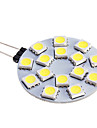 7W G4 Spot LED 15 SMD 5050 480 lm Blanc Chaud / Blanc Froid DC 12 V