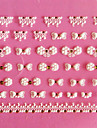 Conception 3D bowknot de modele de dentelle Sculpture Nail Art Stickers