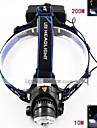 Belysning Pannlampor LED 700-900 Lumen 3 Läge Cree XM-L T6 18650 Justerbar fokus / Vattentät / Laddningsbar / Strike Bezel / självförsvar
