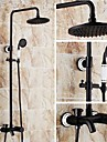 Antique Solid Brass Single Handle Wall Mount ORB Finish Lifting Shower Faucet