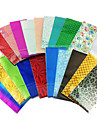 10PCS Mix Colors Laser Foil Nail Decorations Starry Nail Stickers(Random Color)