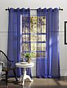 land en panel fast blå sovrummet polyester skira gardiner nyanser