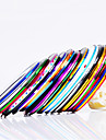 12PCS 12-Color Striping Tape Linje Nail Stripe Tejp Nail Art Decoration Sticker