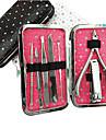 7st nagel Clippers Manikyr Kit Inom Star Pattern Manikyr Bag (Random färg)