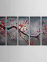 prugna dipinti ad olio invernale dipinti a mano su tela set arte di 5 pronto da appendere