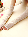 Elbow Length Half Finger Glove Lace General Purposes & Work Gloves/Bridal Gloves/Party/ Evening Gloves