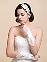 Elbow Length Fingerless Glove Satin / Lace Bridal Gloves / Party/ Evening Gloves Spring / Summer / Fall / Winter