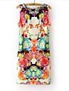 Women\'s Print Flower Mini Dress
