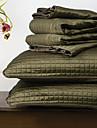 ensemble de couette huani®, 3 pieces a carreaux polyester vert fonce