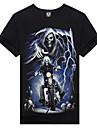 m-imperium bomull 3d skallen riddare kortärmad t-shirt (svart)