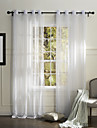 Country One Panel Solid White Bedroom Polyester Sheer Curtains Shades