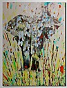 iarts®hand gemalte OElgemaelde abstrakten Tier Elefanten mit gestreckten Rahmen