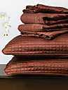 huani® täcke set, 3 st pläd röd polyester