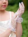 Wrist Length Fingertips Glove Net Flower Girl Gloves