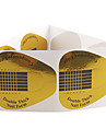 10ST Golden hästsko mönster Nail Art Forms För akryl och UV Gel Tips