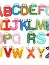 Roliga Magnetic Alphabet 26 Letters trä kylskåps magneter Educational Kids Toy (26-pack)