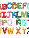 Droles magnetiques d\'alphabet 26 lettres en bois Aimants jouet educatif pour enfants (26-Pack)