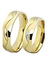 Inele Cuplu Verighete Zirconiu Cubic Iubire bijuterii de lux Teak Placat Auriu Diamante Artificiale Circle Shape Bijuterii Negru Auriu