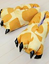 kigurumi Pyjamas Girafe Chaussures Chaussons Fete / Celebration Pyjamas Animale Halloween Jaune Motif Animal Chaussons Pour Unisexe
