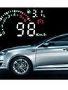 Автомобиль HUD Зеленый светодиод Head Up Display с OBD2 интерфейса подключи и играй Превышение скорости Предупреждать системы