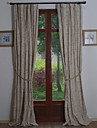 land neoklassiska europeiska två paneler vinstockar beige vardagsrum gardiner draperier