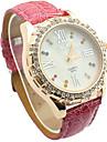 Junhao diamant colore de mode montre de la ceinture 68806