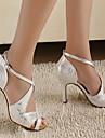 Chaussures de danse (Argent) - Personnalisable - Talons personnalises - Similicuir - Danse latine/Salle de bal
