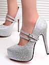 Women\'s Stiletto Heel Platform Pumps with Rhinestones Shoes