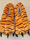 kigurumi Pyjamas Tiger Chaussures / Chaussons Fete / Celebration Pyjamas Animale Halloween Orange Motif Animal Coton / Polyester Chaussons