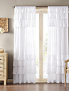 Country One Panel Solid White Living Room Polyester Panel Curtains Drapes