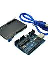 (För Arduino) uno mikrokontroller utvecklingskort med LCD knappsats sköld expansionskort och USB-kabel