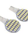 T10 3W 24 LED 240LM 6000K 3528SMD fraiche ampoule blanche LED pour la voiture (12V, 2pcs)