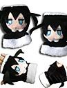 Mănuși Inspirat de Vocaloid Black Rock Shooter Anime Accesorii Cosplay Mănuși Negru Lână polară Bărbătesc / Feminin / Copil